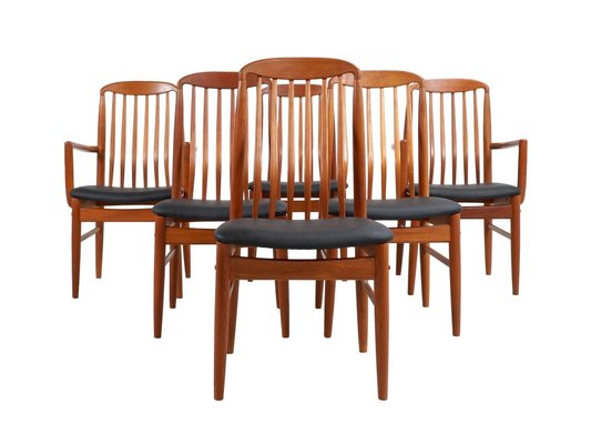Thai Teak Dining Chairs By Benny Linden 1970s Set Of 6 For Sale At