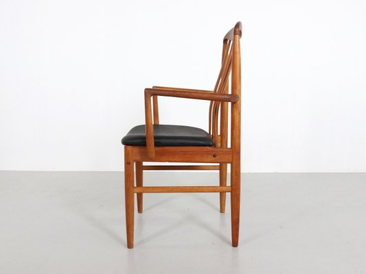 Thai Teak Dining Chairs by Benny Linden, 1970s, Set of 6