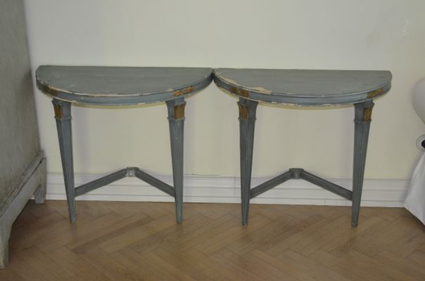 Antique Swedish Empire Console Table 1 - Antique Swedish Empire Console Table For Sale At Pamono