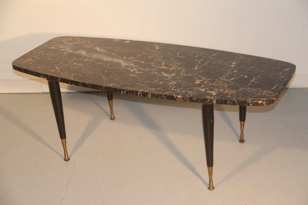 brass coffee table. Italian Marble \u0026 Brass Coffee Table, 1950 1 Table