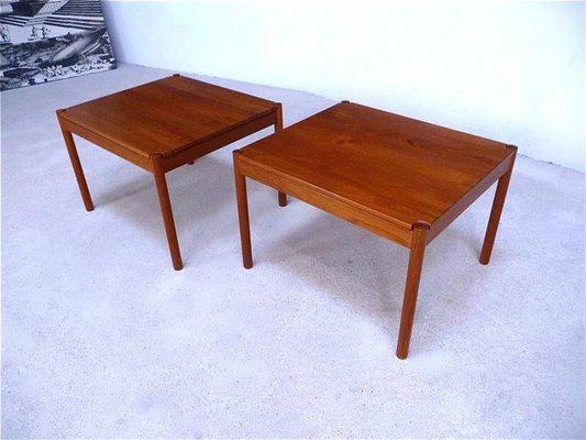 Danish Vintage Teak Side Tables From Magnus Olesen 1960s Set Of 2