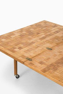 En Chêne Motifs D'appoint Table Avec Extensible Mosaïque1960s UVLqSzMGjp