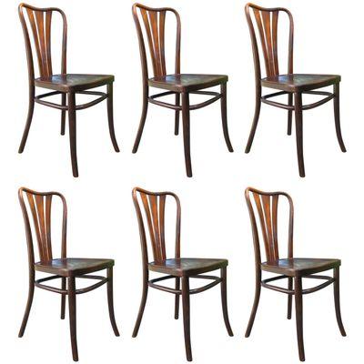 Mid Century Danish Modern Dining Chairs Set Of Six Set