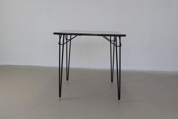Tavolo da cucina in formica e metallo, Olanda, 1965 in vendita su Pamono