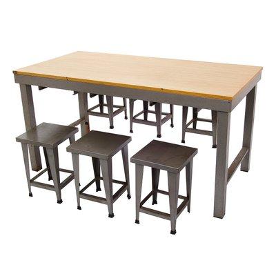 Tavolo con sgabelli vintage in stile industriale in vendita su Pamono