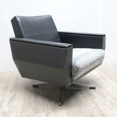 Groovy Vintage Leather Swivel Armchair Dailytribune Chair Design For Home Dailytribuneorg