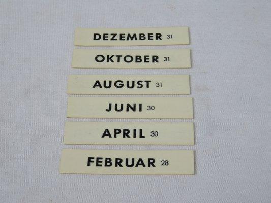 Calendario Perpetuo Da Parete.Calendario Perpetuo Art Deco Cromato Di Jakob Maul