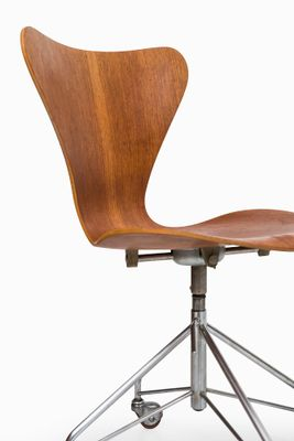 Teak 3117 Office Chair By Arne Jacobsen For Fritz Hansen 1966 2