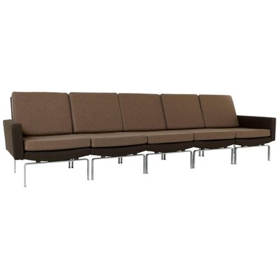 Incredible Brown Five Element Sectional Sofa With Chromed Steel Base 1972 Alphanode Cool Chair Designs And Ideas Alphanodeonline