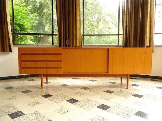 Cherrywood Sideboard With Sliding Doors From Wilhelm Renz 1