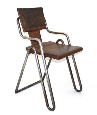 Vintage Tubular Steel Chair By Peter Behrens, 1930s 1