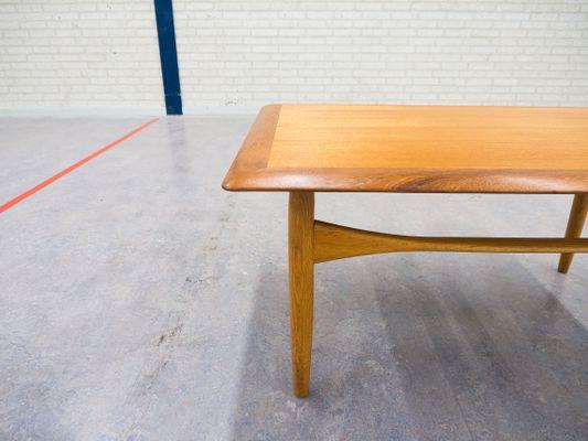 MidCentury Teak Oak Coffee Table By Aksel Bender Madsen For - Mid century oak coffee table