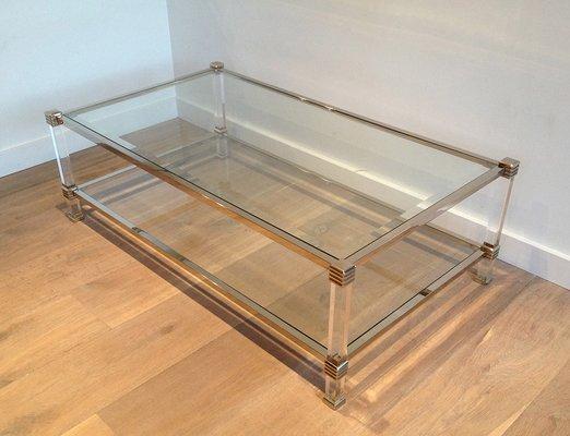 Chrome And Plexigl Coffee Table