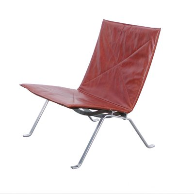 Danish PK22 Lounge Chair By Poul Kjaerholm For E Kold Christensen, 1950s 1