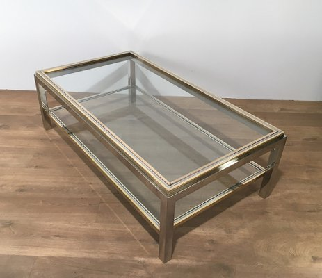 Vine Gl Br Coffee Table By Rizzo 1970s At
