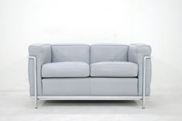Model LC2 Leather Sofa By Le Corbusier For Cassina, 1985 1