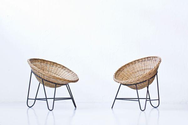 Vintage Rattan Stühle 2er Set Bei Pamono Kaufen