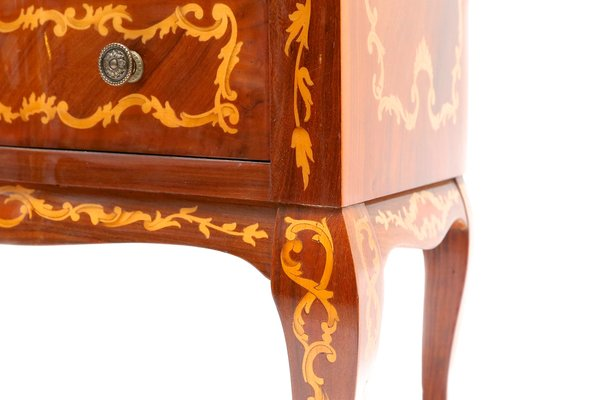 Cassettiera per biancheria in stile Luigi XV con intarsi in vendita ...