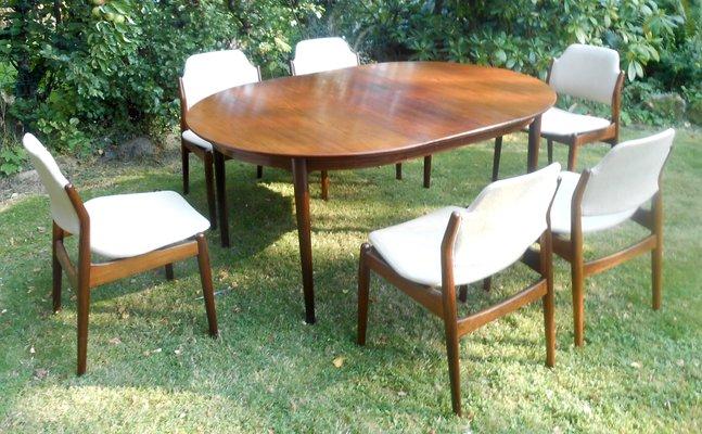 Danish Rosewood Dining Set By Arne Vodder For Sibast 1960s
