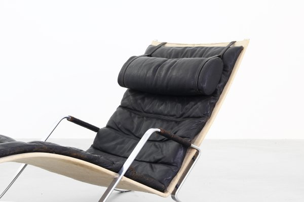 Chaise Lounge Chair.Grasshopper Chaise Lounge Chair By Fabricius Kastholm For Kill