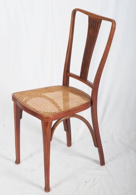 6 Sedie Thonet.Antique Art Nouveau Beech And Cane Thonet Chairs From Thonet