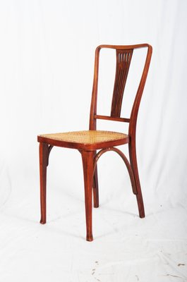 Antique Art Nouveau Beech And Cane Thonet Chairs From Thonet 1