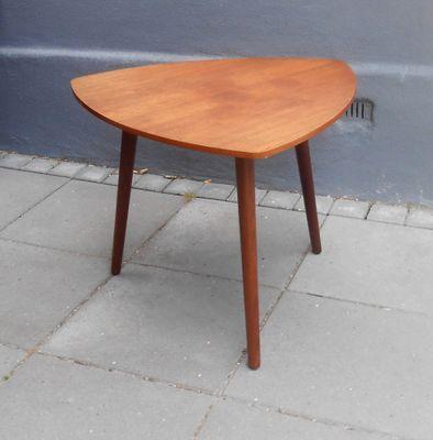 Danish Triangular Guitar Pick Shaped Teak Coffee Table From Mcm 1960s 1