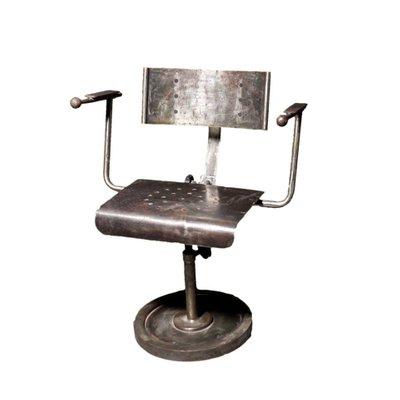 Beau Industrial Polish Metal Armchair, 1950s 1