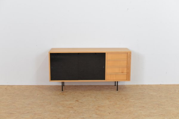 Birch Sideboard With Glass Doors 1960s