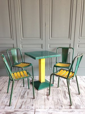 xavier pauchard french industrial dining room furniture tolix 1950s pamono industrial green dining set by xavier pauchard for tolix 1950s