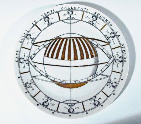 Vintage Astronomici Plate By Piero Fornasetti