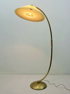 brass arc lamp marble base midcentury german brass arc lamp with adjustable celluloid shade