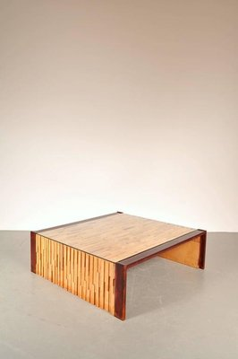 grande table basse en bois massif par percival lafer brsil 1960s 2