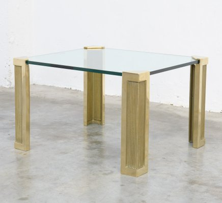 Vintage Brass Coffee Table By Peter Ghyczy 1