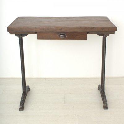 Vintage Tall Walnut Writing Table, 1920s 2