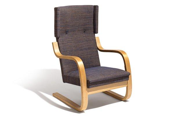 Vintage 36 401 Wingback Lounge Chair By Alvar Aalto For Artek For