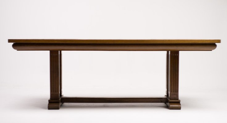 Architectural Oak Dining Table, 1920s 2
