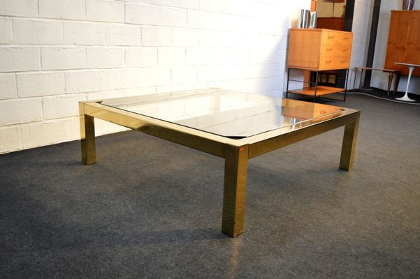 Attrayant Vintage Gold Leaf Coffee Table From Belgochrom 3