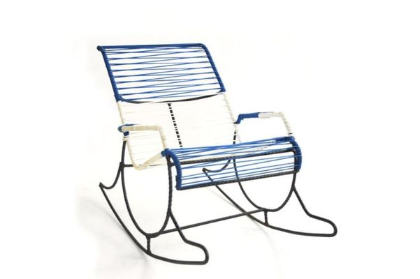 American Rebar String Rocking Chair, 1950s 1