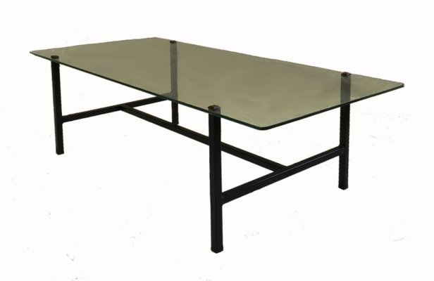 Great Mid Century French Steel U0026 Glass Coffee Table By Pierre Guariche For  Disderot 1