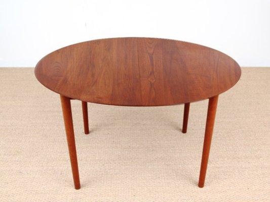 Danish Mid Century Modern Model 311 Solid Teak Dining Table By Peter Hidt Olrla Mølgaard Nielsen For Søborg Mobelfabrik 1956