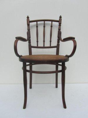 Austrian Bentwood U0026 Cane Armchair From Josef Hofmann, ...