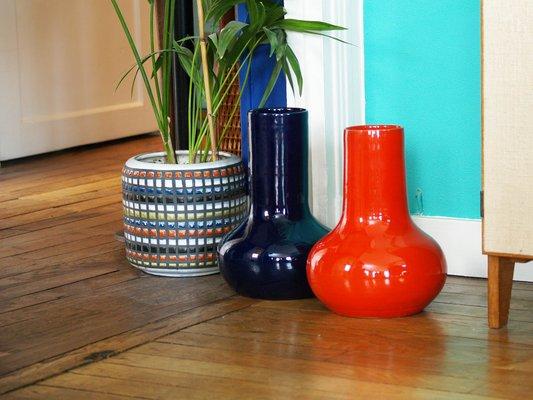 Cerasarda Ceramiche Listino Prezzi.Vasi In Ceramica Di Robert Picault Per Cerasarda Anni 60 Set Di 2