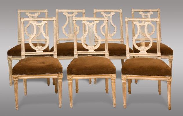 Antique Louis XVI Period Chairs, 1790, Set of 8 1 - Antique Louis XVI Period Chairs, 1790, Set Of 8 For Sale At Pamono