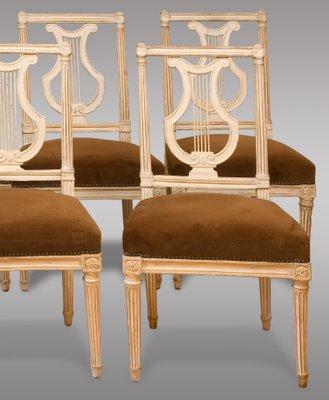 Antique Louis Xvi Period Chairs 1790