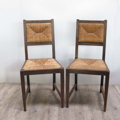 German Art Nouveau Raffia Chairs 1920s Set Of 4 For Sale At Pamono