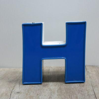 42b1eaf06 Letra H vintage en azul