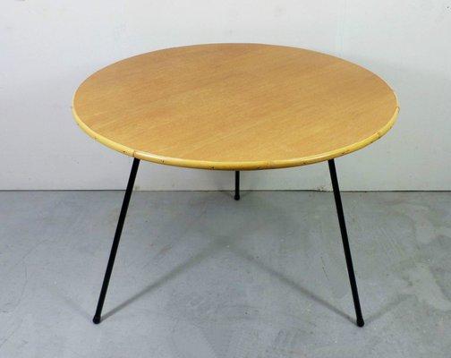 German Oak Bamboo And Metal Coffee Table 1950s 1