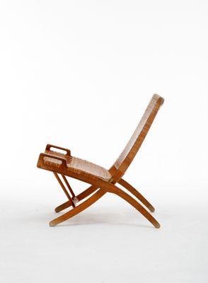 Danish Folding Chair by Hans J. Wegner for Johannes Hansen 1950s 1  sc 1 st  Pamono & Danish Folding Chair by Hans J. Wegner for Johannes Hansen 1950s ...