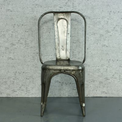 Vintage French Stripped Steel Ac Tolix Cafe Chair By Xavier Pauchard For 2